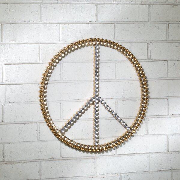 Gold Peace Sign Wayfair