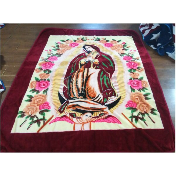 1 Ply Mink Virgin Mary Throw Blanket by At Home