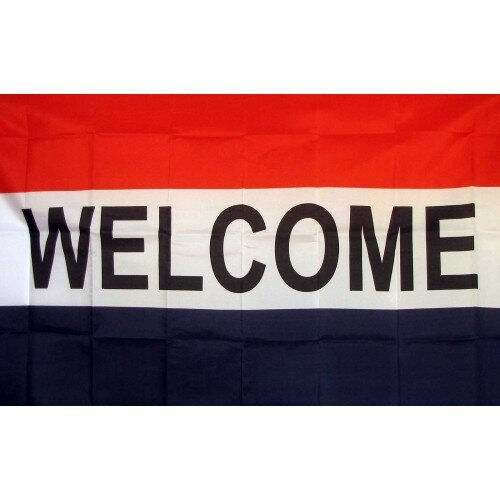 Welcome Traditional Flag by NeoPlex