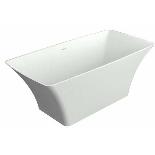 Lynville 60 x 30 Freestanding Soaking Bathtub by Transolid