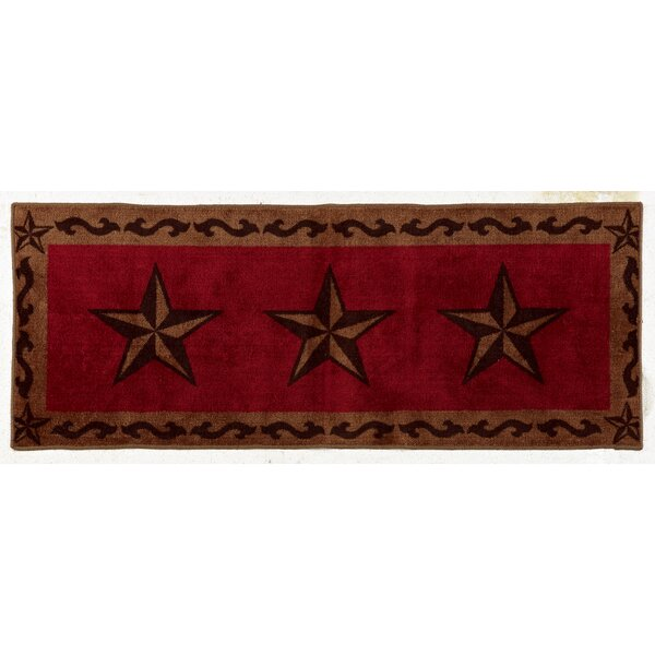 Alexis Star Red Area Rug by Loon Peak