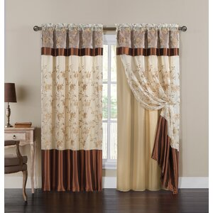 Stafford Nature/Floral Max Blackout Rod Pocket Single Curtain Panel