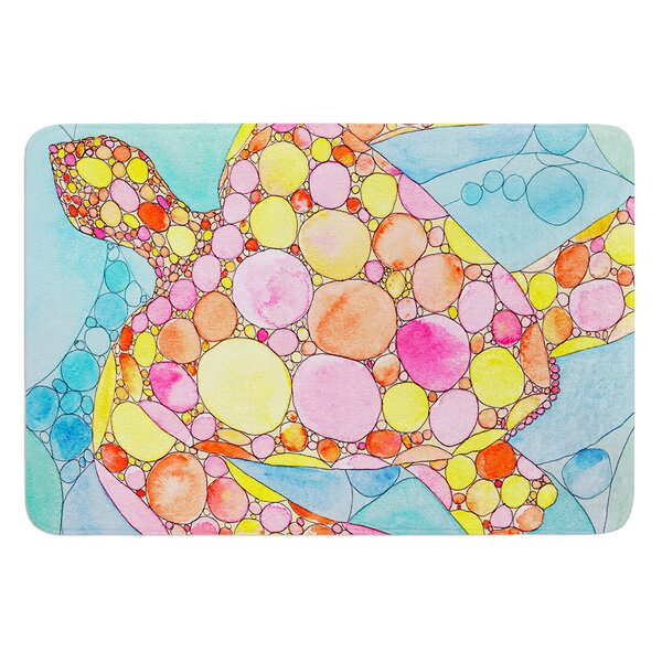Circle Turtle by Catherine Holcombe Bath Mat by East Urban Home