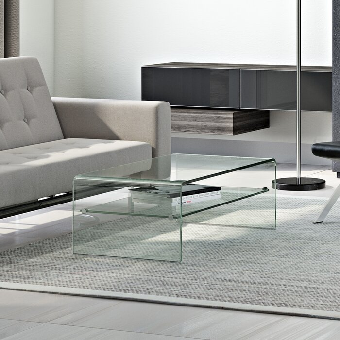 Wade Logan Glass Sled Coffee Table Reviews Wayfair Ca