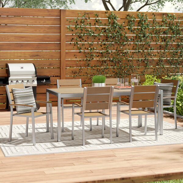 Bret 7 Piece Dining Set by Wade Logan