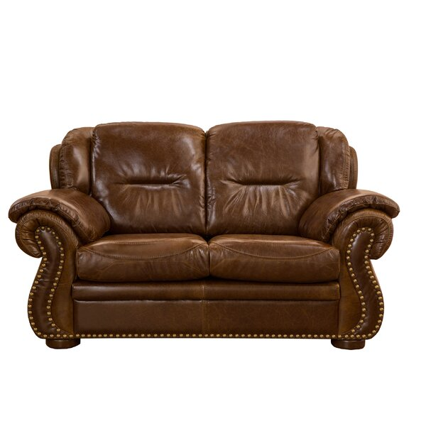 Rosenberger Leather Loveseat By Charlton Home