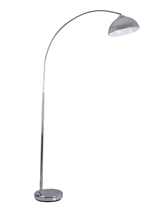 alcesta chrome arched floor lamp reviews allmodern. Black Bedroom Furniture Sets. Home Design Ideas