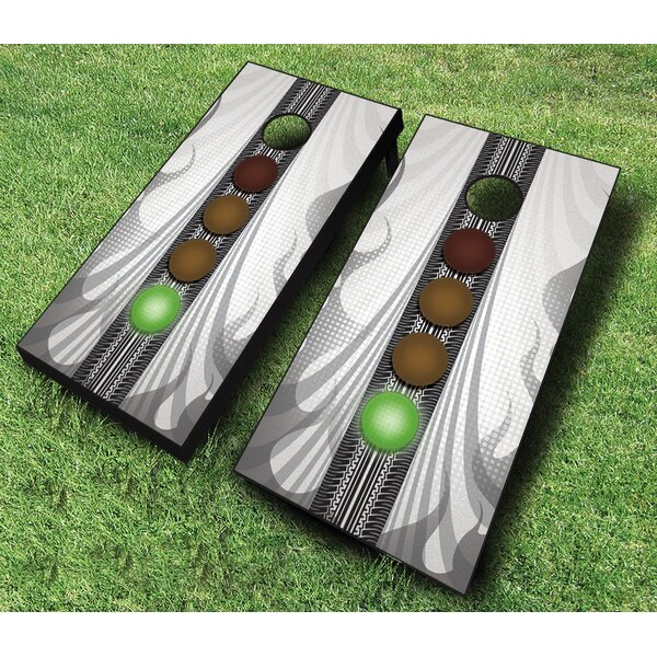 10 Piece Racing Enthusiast Cornhole Set by AJJ Cornhole