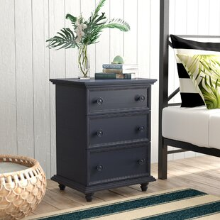 Top Reviews Mary Jane 3 Drawer Nightstand ByBeachcrest Home