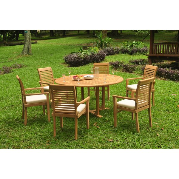 Fresnel 7 Piece Teak Dining Set by Rosecliff Heights
