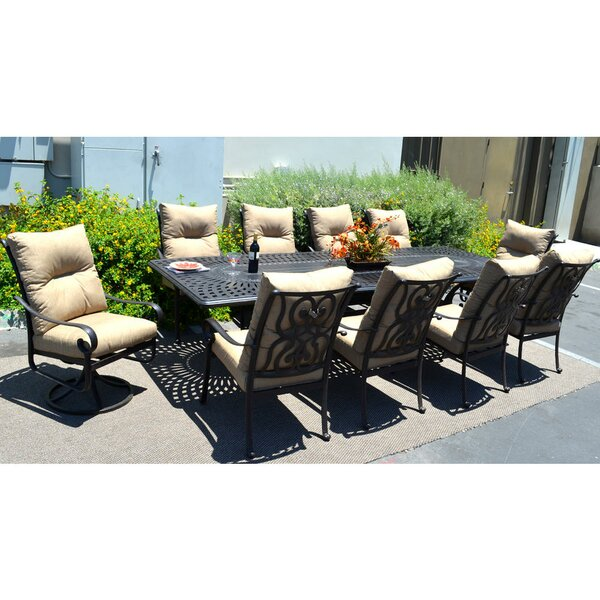 Santa Anita 11 Piece Dining Set by K&B Patio