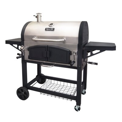 Barrel Charcoal Grill with Side Shelves Dyna-Glo