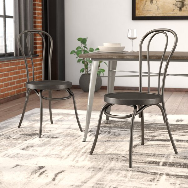 Lalani Workbench Metal Dining Chair (Set of 2) by Trent Austin Design