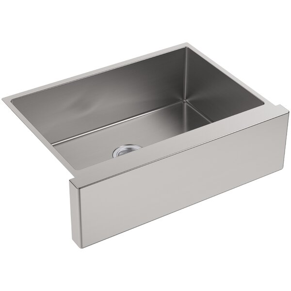 Strive 29.5 L x 21.25 W Self-Trimming Undermount Medium Single-Bowl Kitchen Sink by Kohler