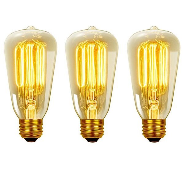 Vintage Edison 40 Watt (2700K) S60 Squirrel Cage Incandescent Filament Light Bulb by Globe Electric Company