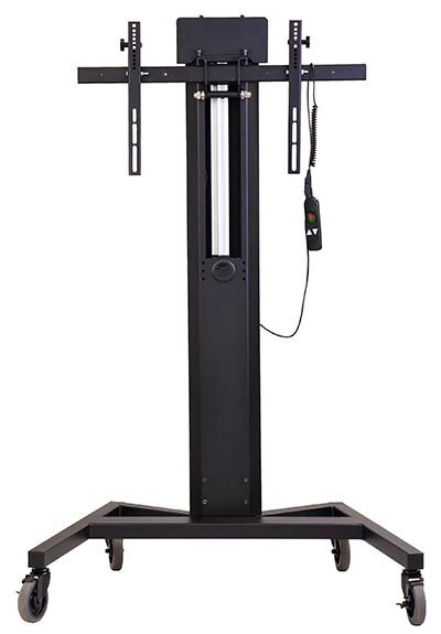 Mobile Tower AV Cart with Power Lift for Single XL Monitor by VFI