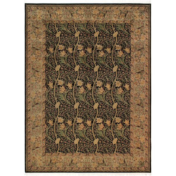 One-of-a-Kind Aaru Hand-Knotted 1960s Brown/Green 9'2 x 12'4 Wool Area Rug