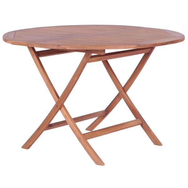 Elkin Folding Teak Dining Table by Highland Dunes
