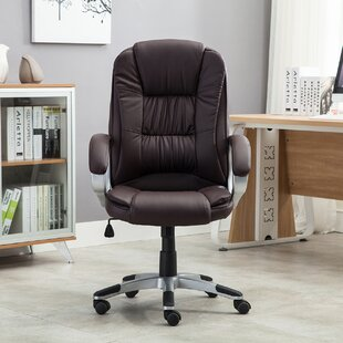 brown leather office chairs you ll love wayfair