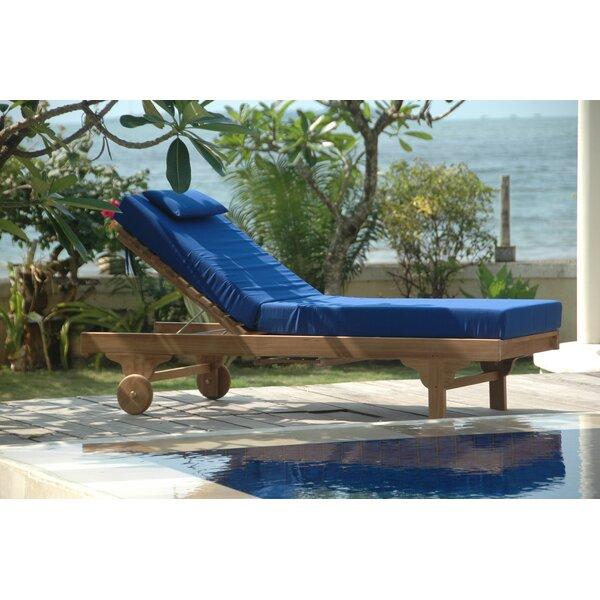 Capri Teak Chaise Lounge