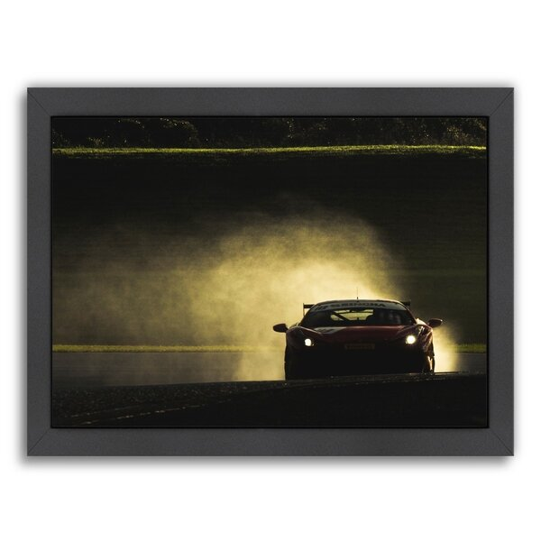Red Car Framed Photographic Print by East Urban Home