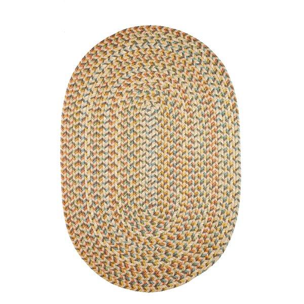 Jopling Hand-Braided Orange/Green/Cream Indoor/Outdoor Area Rug