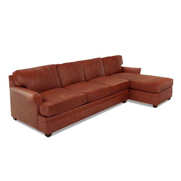 Leather Sectional By Wayfair Custom Upholstery™