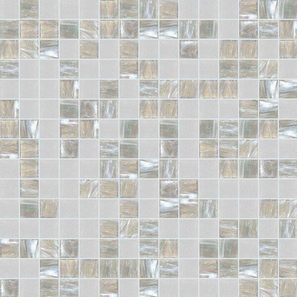 Standard Mix 13 x 13 Glass Mosaic Tile in Gray/Beige by Mosaic Loft