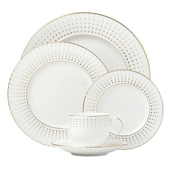 Golden Waterfall 5 Piece Place Setting, Service for 1 by Lenox