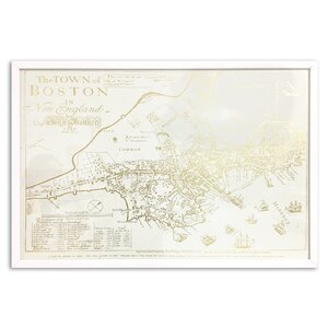 'Boston Map' Framed Graphic Art by Willa Arlo Interiors