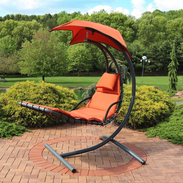 Shelbi Hanging Chaise Lounger with Stand by Freeport Park