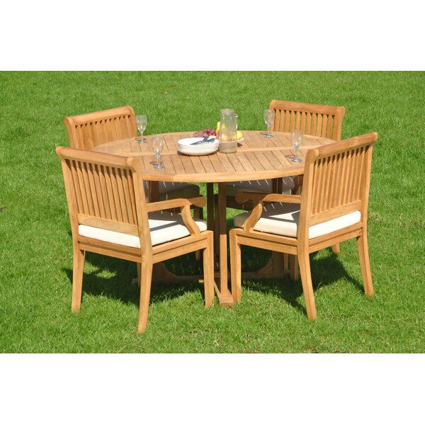 Bradyn Luxurious 5 Piece Teak Dining Set by Rosecliff Heights