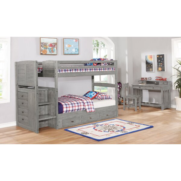Adelynn Twin over Twin Bed with Drawers by Harriet Bee