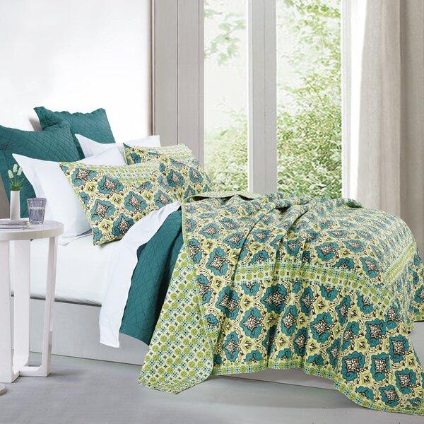 Passyunk 100% Cotton 3 Piece Quilt Set