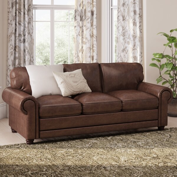 Lambdin Leather Sofa By Canora Grey.