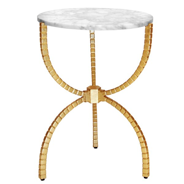 Hammered Base End Table By Worlds Away