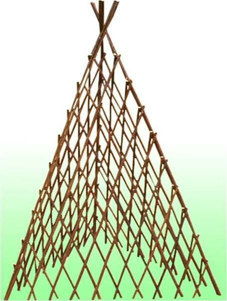 Pyramid Willow Accordion Wood Arched Trellis by Mr. MJs