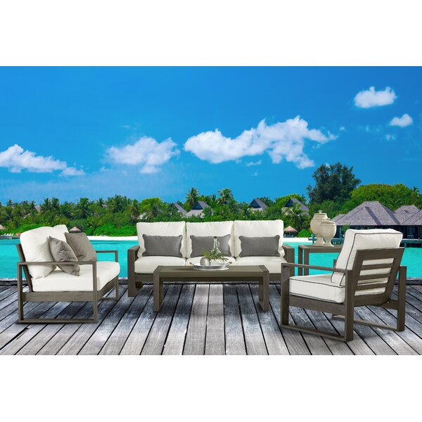Sheppard Patio 5 Piece Sofa Seating Group with Cushions by Union Rustic