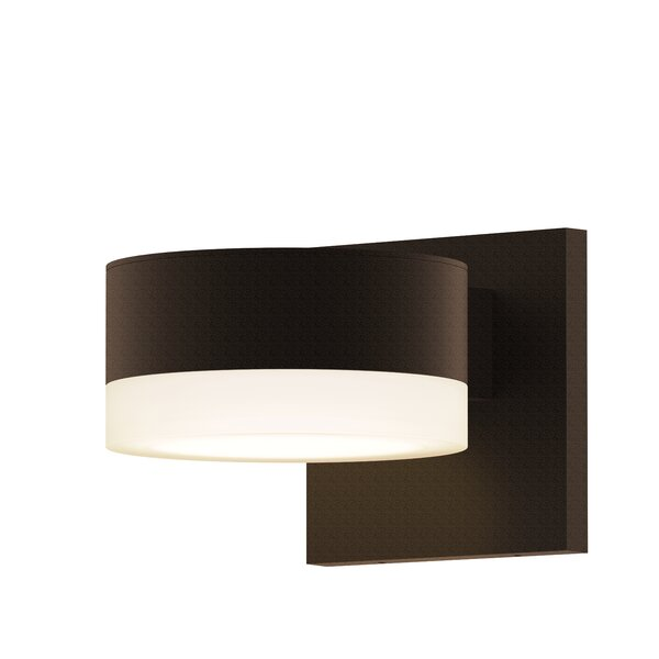 Algarin 1-Light LED Outdoor Armed Sconce by Latitude Run