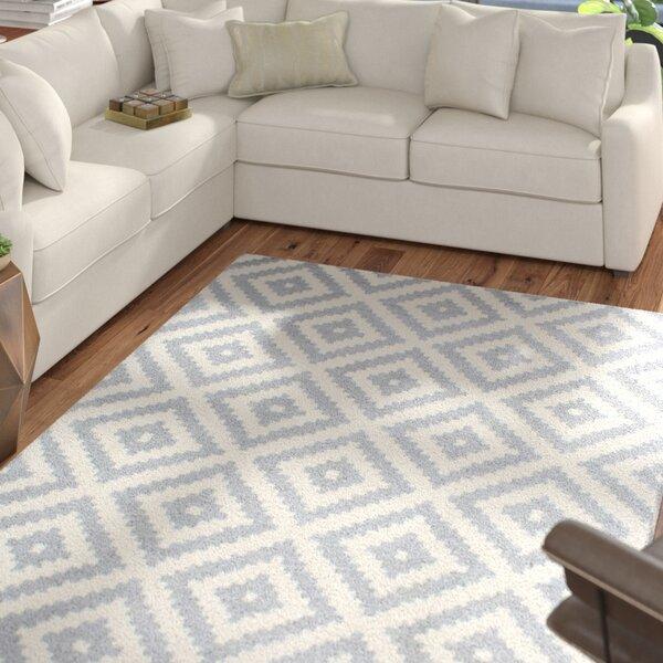 Obadiah Hand-Woven Wool Gray Area Rug by Mercury Row