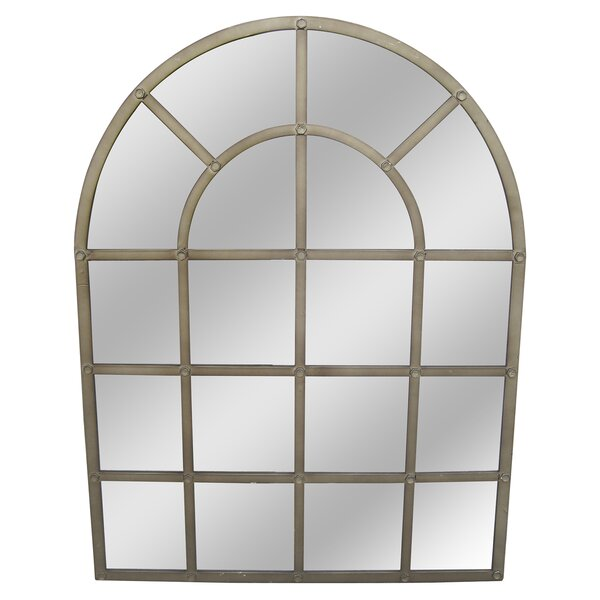 Arch/Crowned top Gold Wall Mirror by 17 Stories