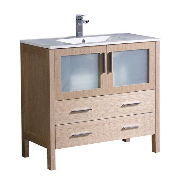 Torino 36 Single Bathroom Vanity Set by FrescaTorino 36 Single Bathroom Vanity Set by Fresca