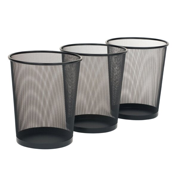 Ronda Steel 6 Gallon Waste Basket (Set of 3) by Sy