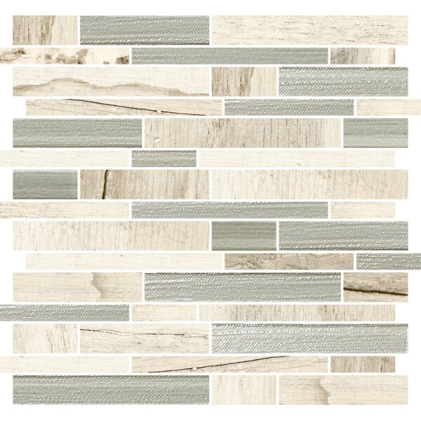 Docklight 12 x 12 Porcelain Mosaic Tile in Sunset by Parvatile