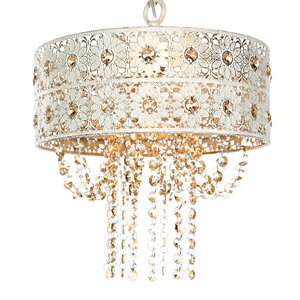 Overton Jeweled Blossoms Crystal Chandelier