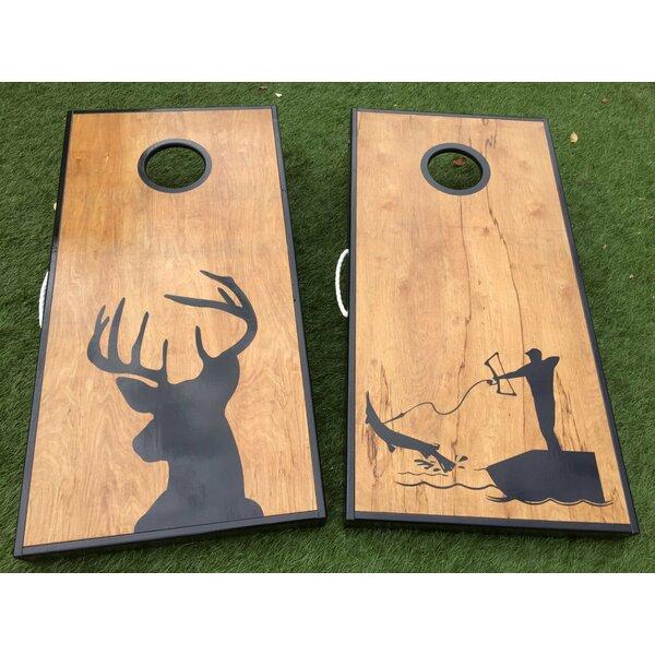 Deer and Bow Fishing 10 Piece Cornhole Set by West Georgia Cornhole