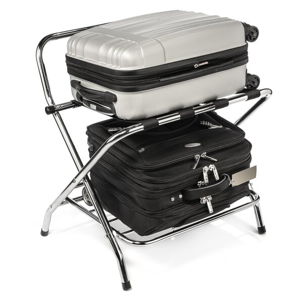USTECH+2-Tier+High+Back+Chrome+Luggage+R