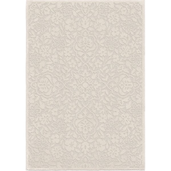 Farner Cottage Floral Natural Ivory Indoor/Outdoor Area Rug by Charlton Home