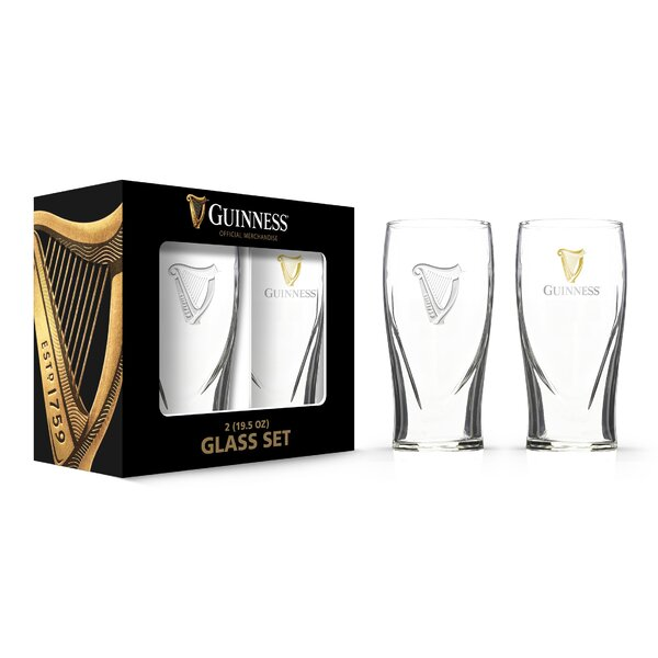 Guinness Boxed Gravity 20 oz. Pint Glass (Set of 2) by PB