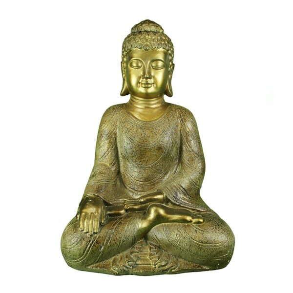 Costillo Polyresin Sitting and Meditating Buddha Figurine by World Menagerie